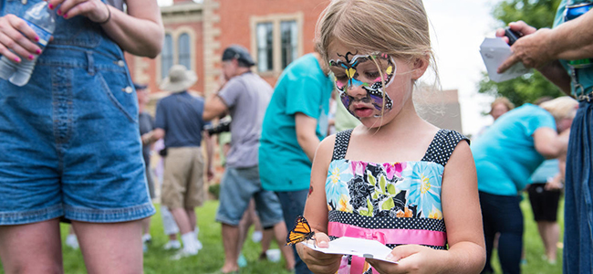 Photo of a Child With a Face Painting