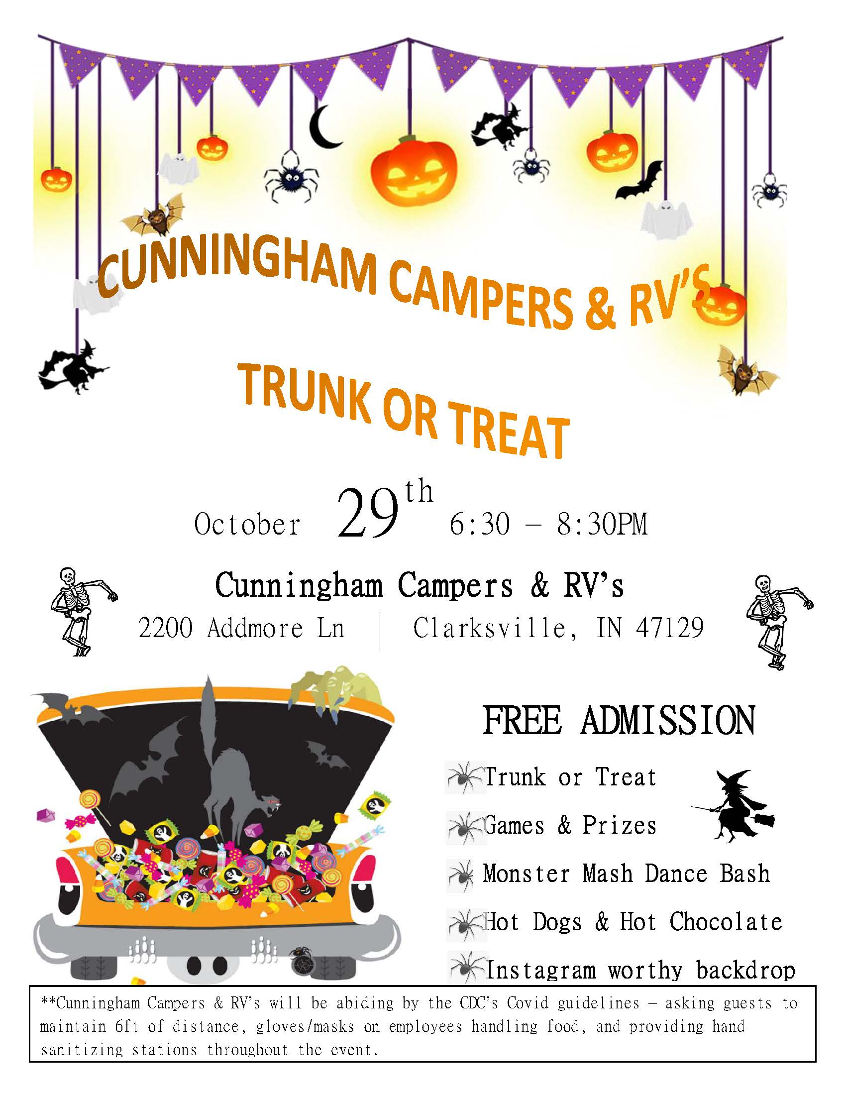 Cunningham Campers 2021 Trunk or Treat